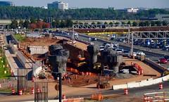Metro Rail  Construction at Dulles International Airport