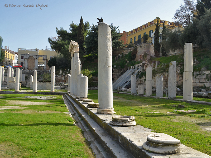 Doble columnata del Ágora romana