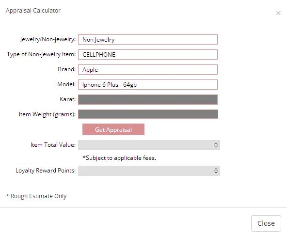 cebuana lhuillier appraisal calculator