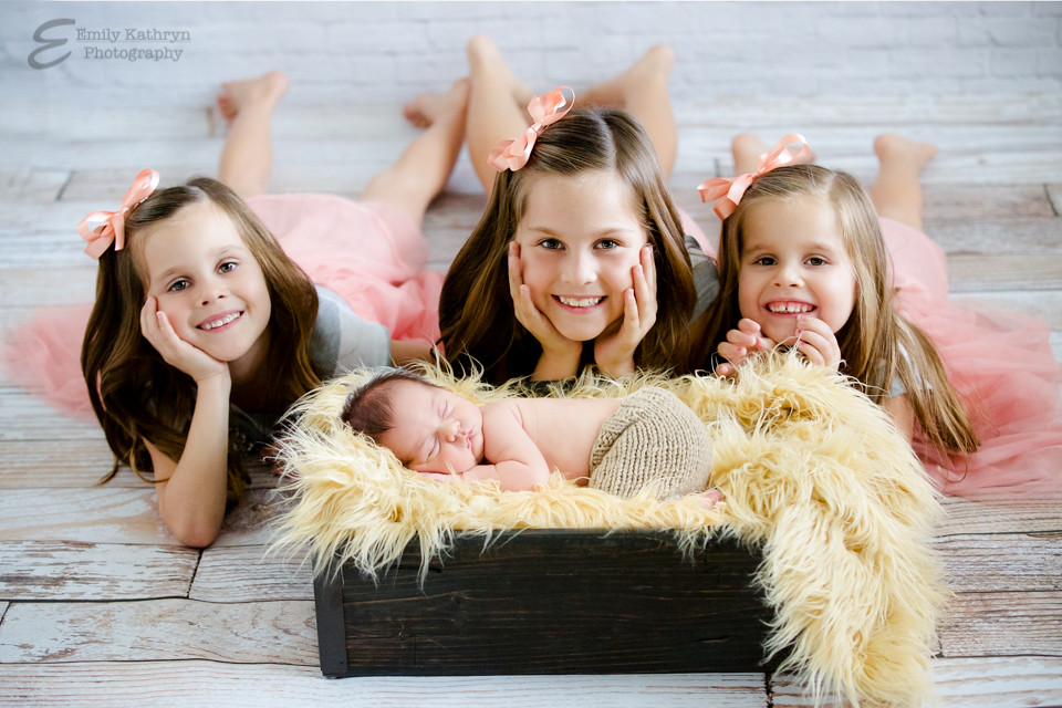 Girls and Newborn brother