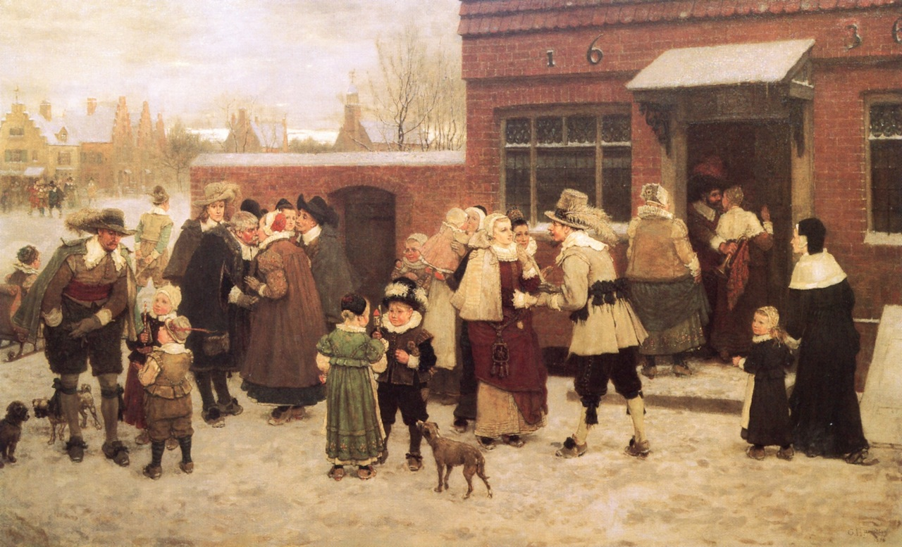 New Year's Day in New Amsterdam by George Henry Boughton - 1870