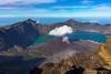 Rinjani vulcano, Indonesia