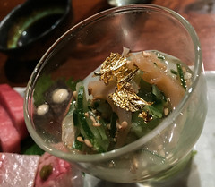 Gold Flake Dish / Omakase at Blue Ribbon Sushi - M…