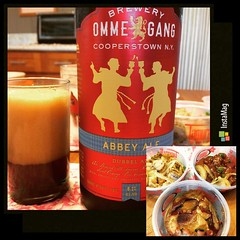 dinner : ommegang abbey ale & tamura's poke #dinner #cooperstown #ommegang #tamuras #poke #abbeyale #hawaii