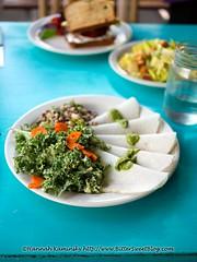 Rawvioli and Pac Man Kale Salad