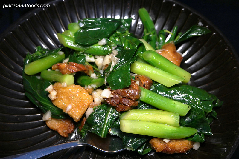 Savoey stir fried chinese kale with salted fish