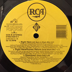 SWV:RIGHT HERE:HUMAN NATURE(LABEL SIDE-B)
