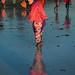 Tanzania, Zanzibar, Kizimkazi, veiled girls walking on the beach by Eric Lafforgue