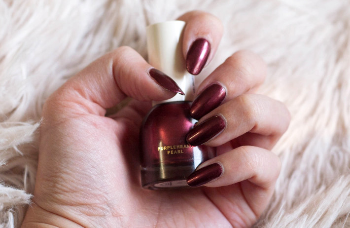 H&M beauty Purpleheart Pearl nail polish review