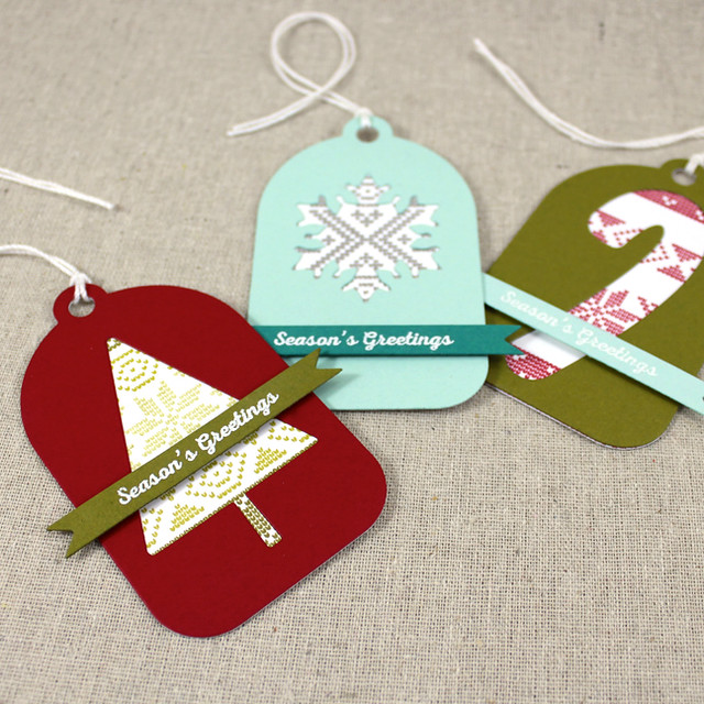 Fair Isle Christmas Tags 1