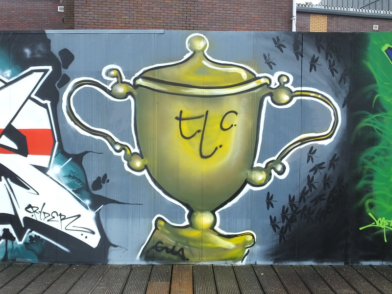 Rugby World Cup street art Cardiff