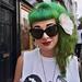 Tash Green Hair Street Portrait by lomokev