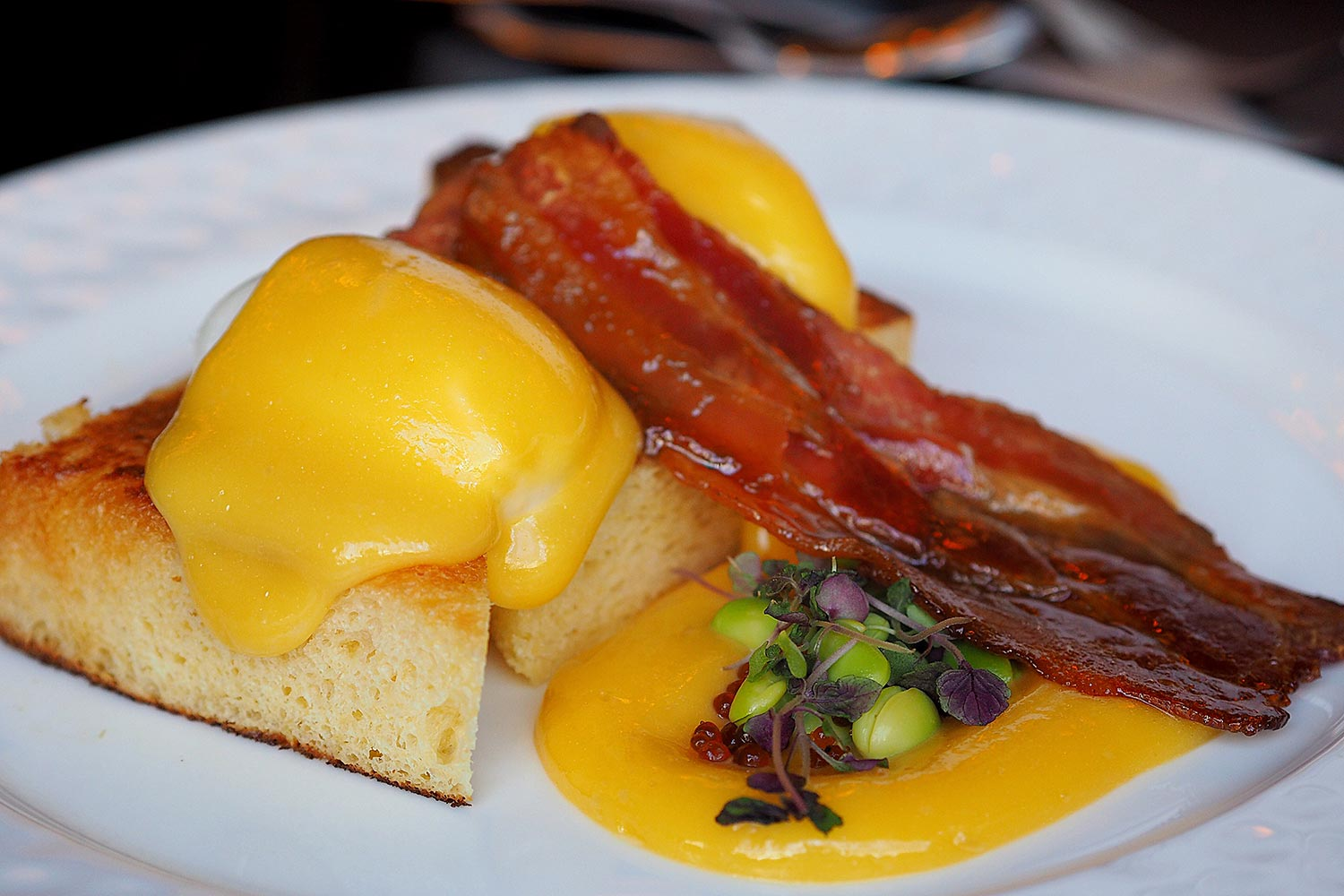 Sydney Food Blog Review of Sokyo, Pyrmont: Eggs Benedict