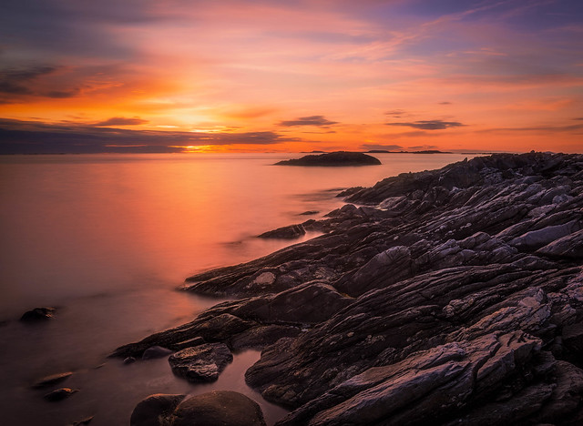 Sunset at Ølberg.