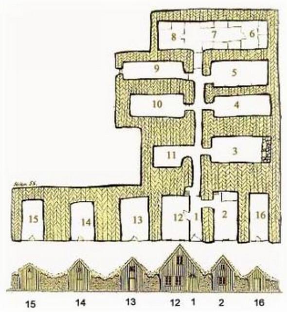 Plano de la granja de césped Glaumbaer