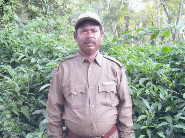 "Kiron Rabha was born in to a family with a legacy of capturing wild elephants and has an inherent understanding of these giants. He grew up in an environment where he learned all tricks of mela shikar, traditional medicines and training of wild elephants. Kiron joined the Forest Department as grass cutter on December 1, 1990 and was later promoted to the rank of mahout in 1999. For the last two decades he has been in charge of an elephant named ""Kartik"" who is impossible to handle without Rabha."