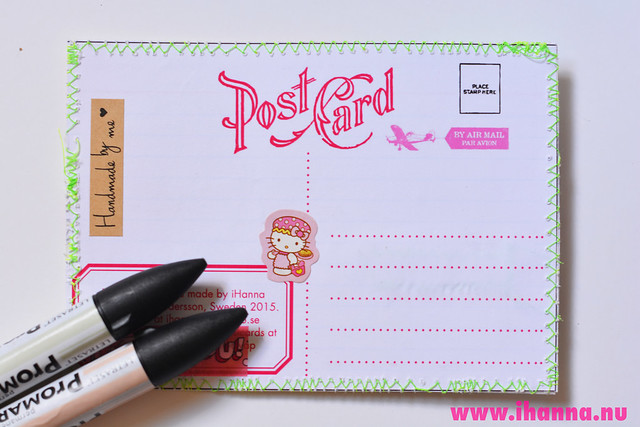 Printable postcard backside