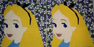 Alice in Wonderland. Paper pieced. #misha29 #michellethompson #fandominstitches