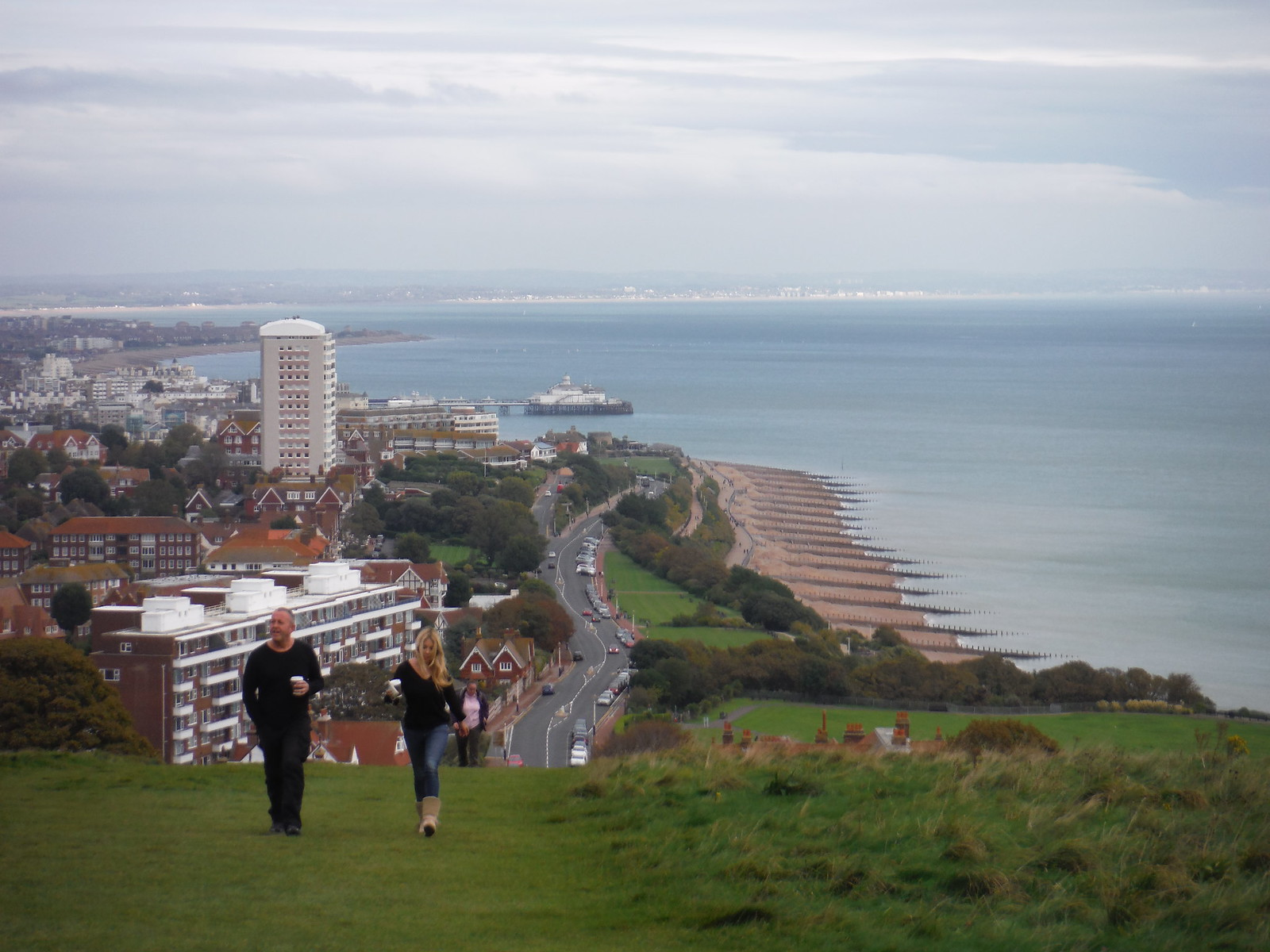 Eastbourne Seafront from the Downs SWC Walk 25 - South Downs Way 8 : Southease to Eastbourne