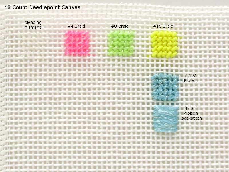 18 ct needlepoint canvas light
