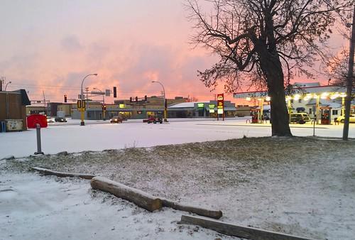 sunset snow sundown smalltowns brainerdmn