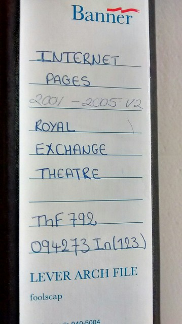 Royal Exchange Theatre Internet Pages
