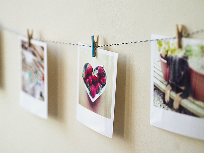 diy instagram photo garland 5