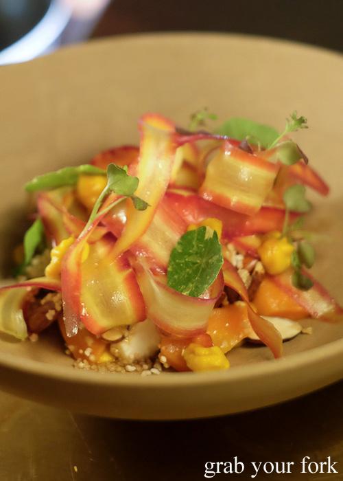 Roasted carrot salad at Bennelong Restaurant, Sydney food blog restaurant review
