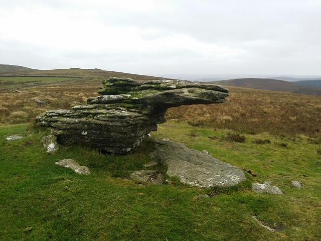 Granite outcrop near Shapley Tor