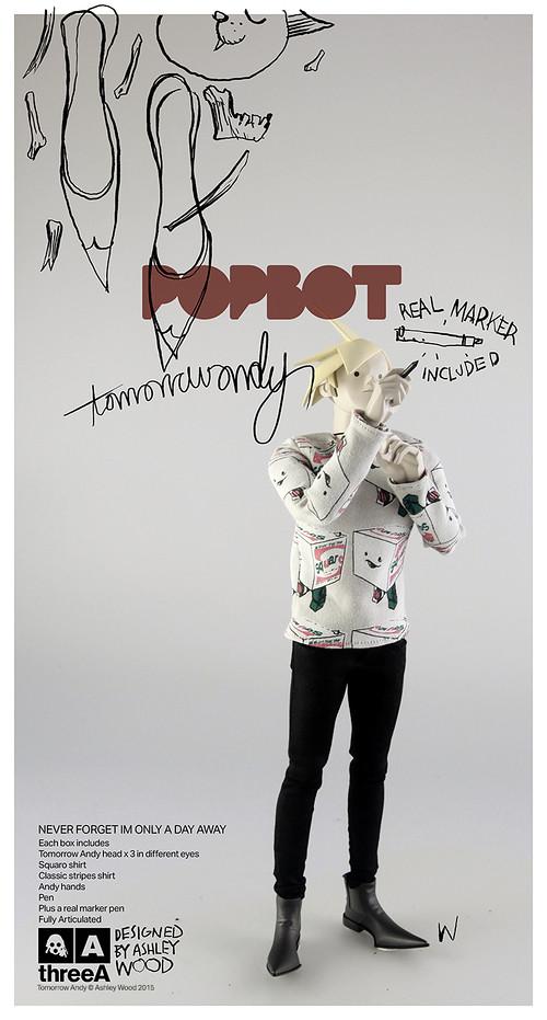 threeA – POPBOT 系列【明日安迪】TOMORROW ANDY 筆,是我的武器!!
