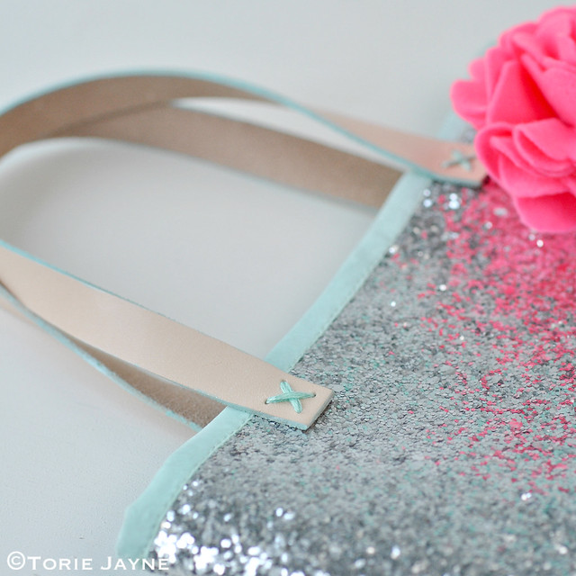 Handmade Silver glitter bag tutorial