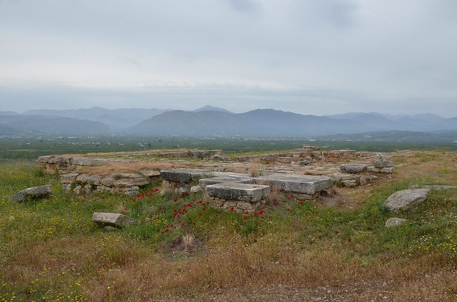 Northeast corner of the New Temple of Hera on the middle terrace, Heraion of Argos, Greece