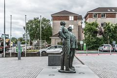 TWO WORKING MEN IN CORK [OISIN KELLY'S SECOND PUBLIC ART INSTALLATION]-122296