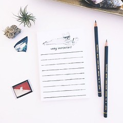 Good morning friends! Need some help staying on track with your tasks? This little frenchie knows what's up. He'll help you prioritize those #veryimportant tasks! This #notepad is new and in stock now in the shop (link in profile).
