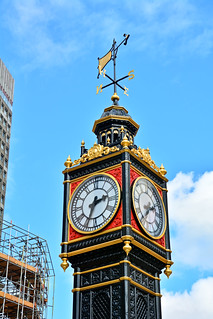 Immagine di Little Ben. dslr 2016 nikond7100 uk clock august citycentre summer capital outdoor littleben london city victorian afsdxvrzoomnikkor18200mmf3556gifedii