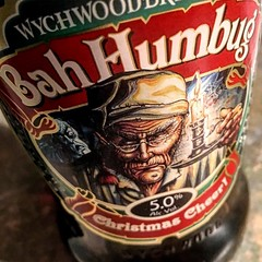 Christmas Beer #366photos #christmas #beer #wychwood #wychwoodbrewery #humbug #scrooge