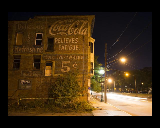 Coca-Cola at night