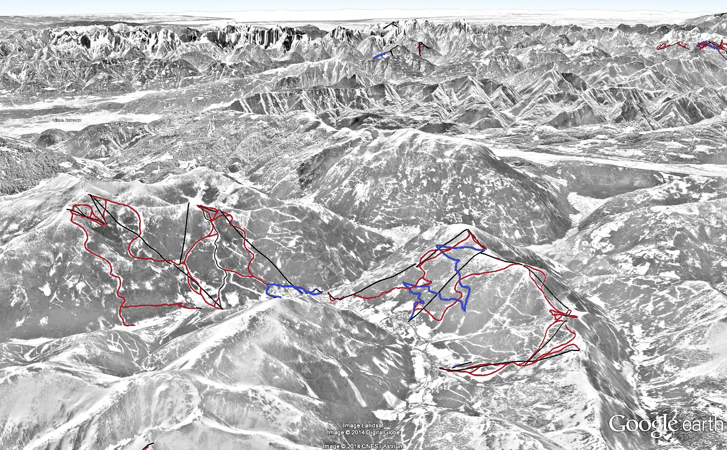 Bad Kirchheim mapa sjezdovek bad kleinkirchheim cz lyžování