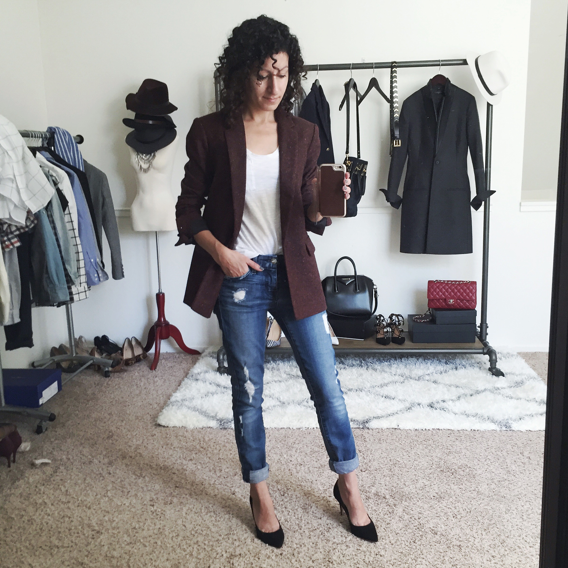 Petite Banana Republic Burgundy Blazer – Fit Review Friday
