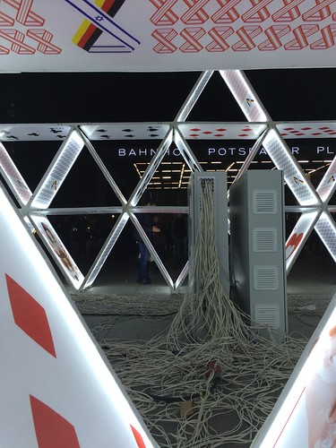 Berlin Festival of Lights 2015 electrical cords for house of cards