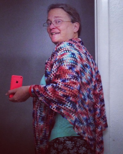 Last shawl blocked--I'm almost ready for CFR7!