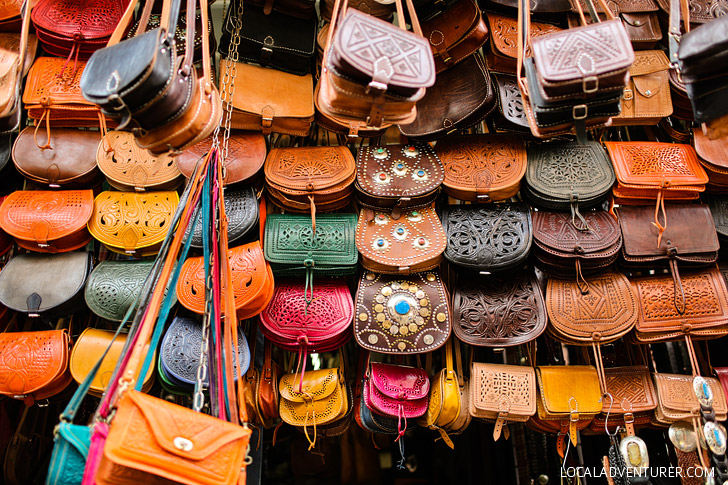 Beautiful Colors of the Marrakesh Market (Things to See in Morocco).