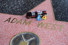 Adam West's Star on the Hollywood Walk of Fame (with LEGO)