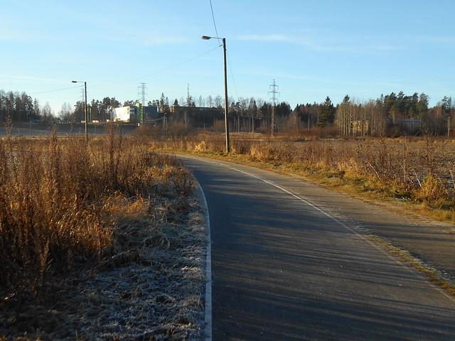 Sulavaa kuuraa lievästi hallaisen aamun jälkeen, 5.11.2015 Espoo Leppäsilta