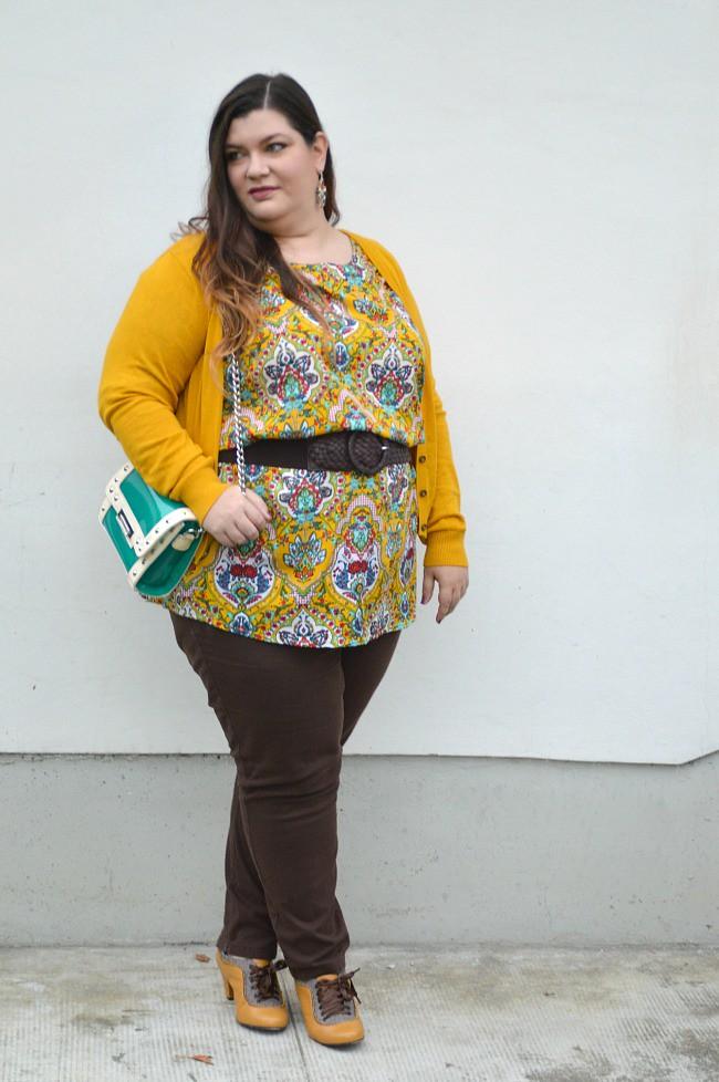 Outfit marrone e senape (1)