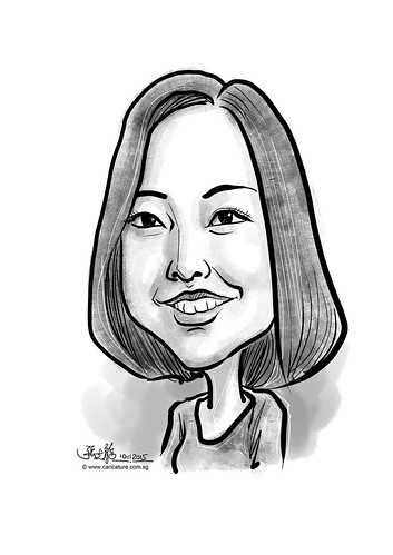 digital caricature for eBay - Zhou, Susan
