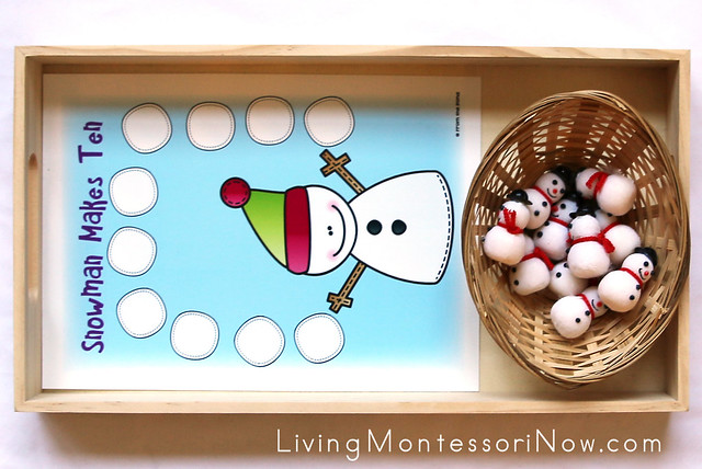 Snowman Counting Tray