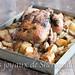 Poulet au four et ses pommes de terre