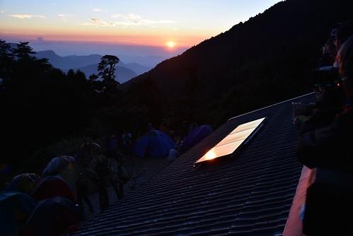 能高越嶺步道-天池山莊夕陽