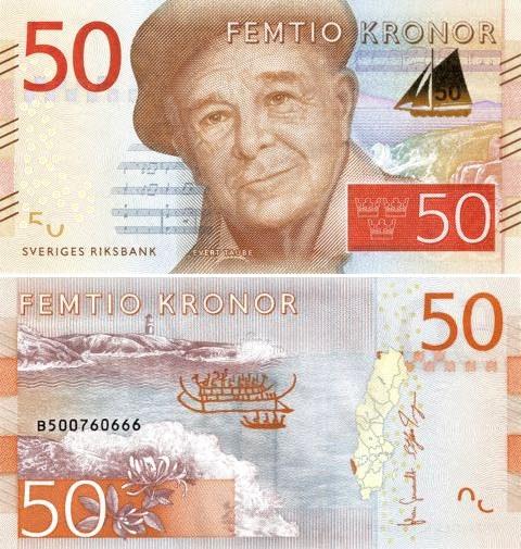 50 Korún Švédsko 2015